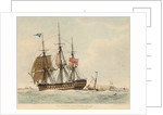 The East Indiaman 'Thames' by Edward William Cooke