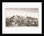 Prospect of y Innerpart of Tangier, with the upper Castle, from southeast by Wenceslaus Hollar