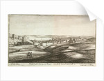 Prospect of y lower part of Tangier, from the hill west of Whitehall by Wenceslaus Hollar
