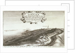 Prospect of y North side of Tangier regarding the mayne sea from the hill as you come from Whitby or the west, toward the Towne by Wenceslaus Hollar