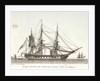 Fregate des Etats unis d' Amerique faisant secher ses hamacs. Plate 2 in Collection de Toutes les Especes de Batimens... 1ere Livraison by Baugean