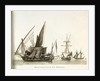 Divers Corsaires de la Mediterranee. Plate 3 in Collection de Toutes les Especes de Batimens... 1ere Livraison by Baugean