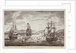 Attack by the British Fleet at Port Andre, on the Island of Belle Isle, 8 April 1761 by R. Short
