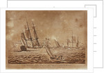 The Royal Sovereign Admiral Cornwallis sailing with a Squadron and Convoy for the West Indies, with a Brisk Gale by Haines & Son