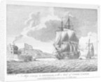 A Ship coming to Spithead, with a view of Cowes Castle by John Cleveley