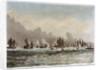 Spithead, 23 June 1845. 'Albion', 'Queen', 'Superb', 'Rodney', 'Trafalgar', 'Canopus', 'St Vincent', 'Victoria & Albert', 'Vanguard', 'Black Eagle' by M. Grove