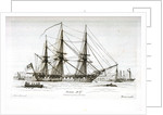 Sketches of Shipping in Portsmouth Harbour, Drawn and Etched by Henry Moses. Aurora 46 Gns. Portsmouth by Henry Moses