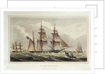 Six views of the 'Columbine' and The Experimental Squadron. Plate No. 5 by Henry Moses