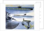 The Submarine Series: Submarine submerged by Eric Ravilious