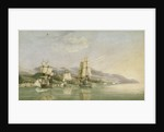 Attack on convoy of eighteen French merchant ships at Laigrelia and Alassio, 27 June 1812 by Silas Thomson Hood
