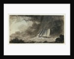 Cutter off a coast in a squall by Charles Gore