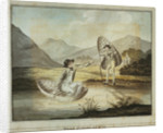 'Welsh Corricles': two young gentlemen take to the water in their coracles by WAE