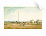 View of coastal batteries, possibly Gun Hill, Southwold, Suffolk by Henry Davy