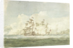 The Battle of the Glorious First of June, 1794; the 'Queen Charlotte' to leeward of the 'Montagne' by Nicholas Pocock