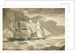 The 'Caroline' taking a French privateer by British School