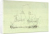 Captain Sir Edward Pellew's 'Nymphe' boards and takes the 'Cleopatra', 18 June 1793 by Nicholas Pocock