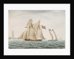 American schooner 'Thetis' in 1794 - Coast of Virginia by G. T.
