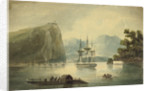 HMS 'Spartan' at Quebec, Heights of Abraham, E.R Brenton Feat 1818 by Edward Pelham Brenton