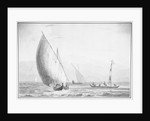 Indian sailing boats by Thomas Daniell