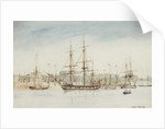 The survey ship HMS 'Beagle' in Sydney harbour by Owen Stanley