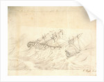 HMS 'Boscawen' in a hurricane off the Bermudas, 22 October 1854 by C. Royle