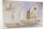 Studies of Venetian craft by Edward Lear
