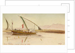 On the Nile near Ballas, Egypt by Edward Lear
