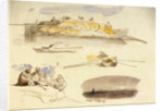 Five sketches of Luxor, Egypt by Edward Lear