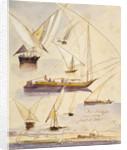 Deir Kadige, Egypt by Edward Lear