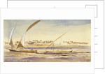 Abou Ajees, Egypt by Edward Lear
