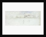 12 Mar 1854 10am The Baltic fleet under Sail and Steam by Oswald Walter Brierly