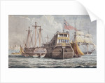 74-gun HMS 'Odin', captured from the Danish in 1807, at anchor in Portsmouth harbour by John Christian Schetky