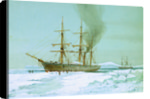 HMS 'Discovery' forcing a passage through the ice by William Frederick Mitchell