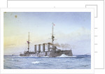 Armoured cruiser HMS 'King Alfred' (1901) by William Frederick Mitchell