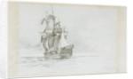 HMS 'Marlborough' by Eduardo de Martino
