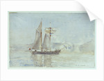 A schooner off shore by Henry Scott Tuke