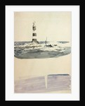 Eddystone lighthouse of 1759 by William Lionel Wyllie