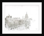 Sketch of St Paul's Cathedral from the Embankment, London by William Lionel Wyllie