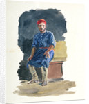 Study of a seated man in North African dress by William Lionel Wyllie