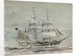 Barque under sail by William Lionel Wyllie