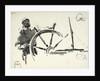 Sketch of seaman steering by William Lionel Wyllie