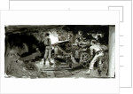 Scene showing a naval gun crew below decks by William Lionel Wyllie