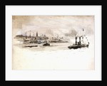 Study of a port scene, possibly London by William Lionel Wyllie