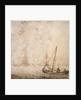 Weyschuit and other shipping near a rocky coast by Willem van de Velde the Elder