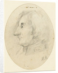 Portrait of Lord Nelson, head and naval collar, in profile.... inscribed with the initials H.N. below by Catherine Nelson