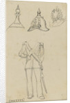 Details of military uniforms, including helmet by Edward William Cooke