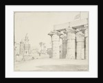 The colonnade of the Temple of Luxor, Egypt, with the Mosque of Abu'l Haggag by Edward William Cooke