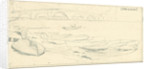 Wherries at Richmond. A slight sketch with further sketches on reverse by Edward William Cooke