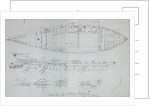 Constructional details of a wherry at Richmond with notes, with more wherry details on reverse. All studies for the shipping and craft plate by Edward William Cooke