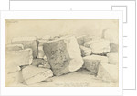 Stone for New London Bridge on the Wharf, Isle of Dogs by Edward William Cooke